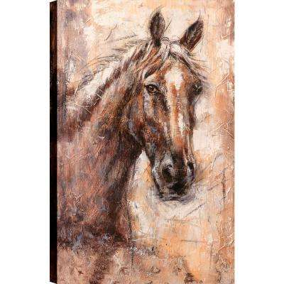 Horse Brown Beauty Animal Art Unframed Canvas Print Wall 48x30 Ready To Hang