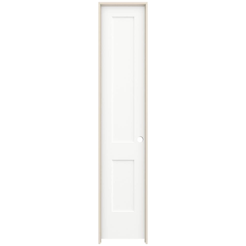 Jeld Wen 20 In X 96 In Monroe White Painted Left Hand Smooth Solid Core Molded Composite Mdf