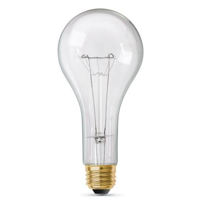300-Watt High Lumen Clear PS25 Medium E26 Soft White (2700K) Utility Incandescent Light Bulb (1-Bulb)
