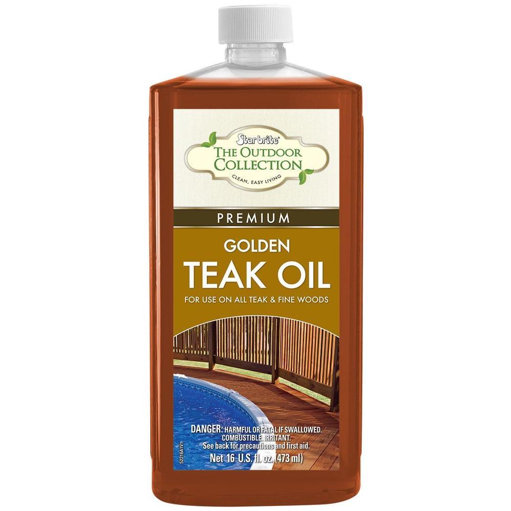 16 oz. Premium Golden Teak Oil