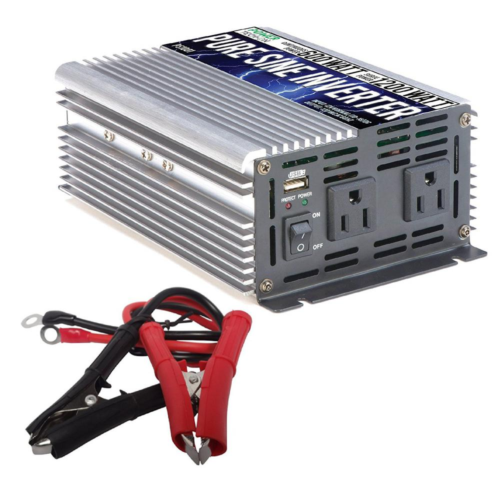 Gowise Usa 600 Watt Continuous 1200 Peak Pure Sine Wave To 12v Dc Ac Inverter Circuits Further Circuit