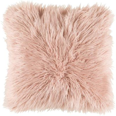 Camberwell Pink Solid Polyester 18 in. x 18 in. Throw Pillow