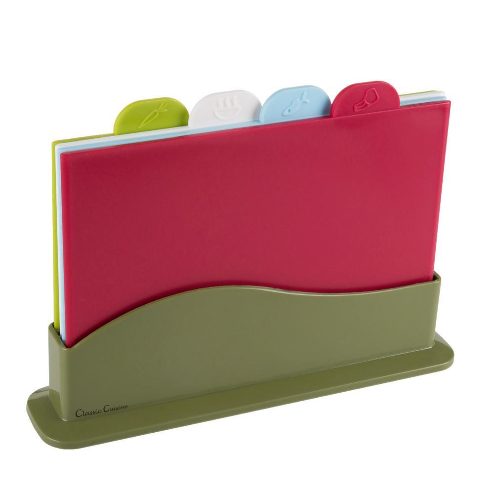 5-Piece Plastic Cutting Board Set