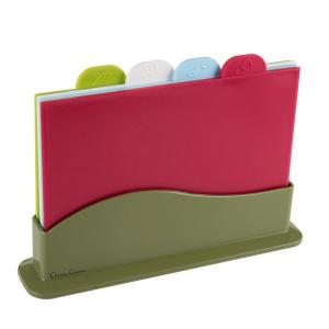 Click here to buy Trademark 5-Piece Plastic Cutting Board Set by Trademark.