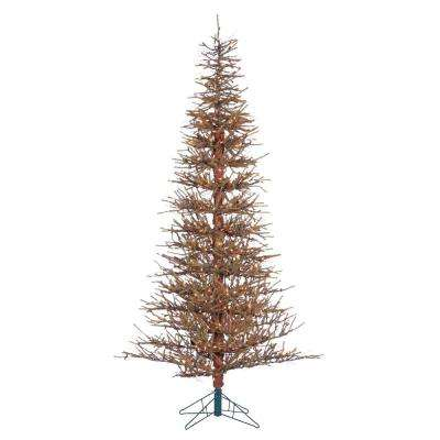7 ft. Pre-Lit Hard Needle Brown Twig Artificial Tree with 550 UL Clear Lights, 3105 Tips