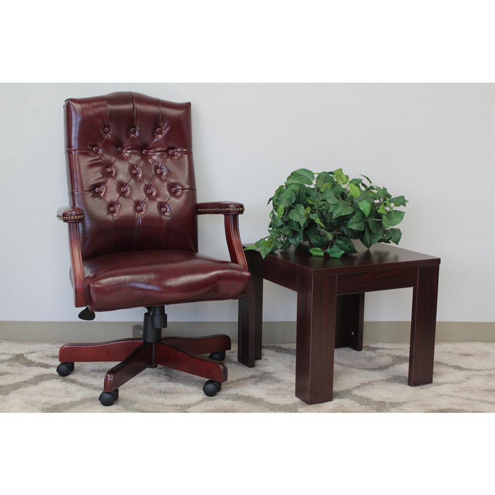 Oxblood Vinyl Classic Executive Chair