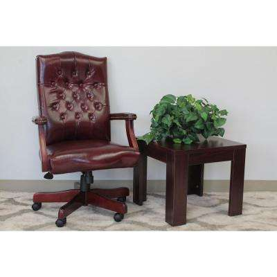Oxblood Vinyl Classic Executive Chair