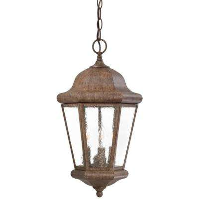 Taylor Court Vintage Rust 3-Light Outdoor Hanging Lantern
