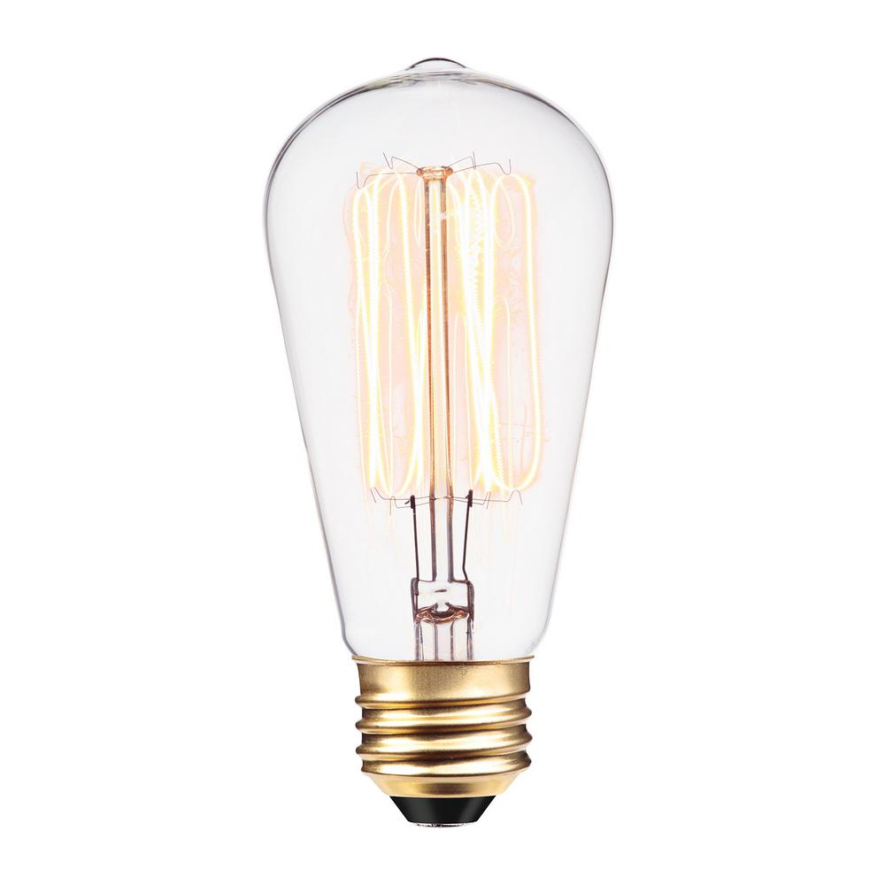 Globe Electric 60 Watt Incandescent S60 Vintage Squirrel Cage Medium Base Light Bulb 01321 The