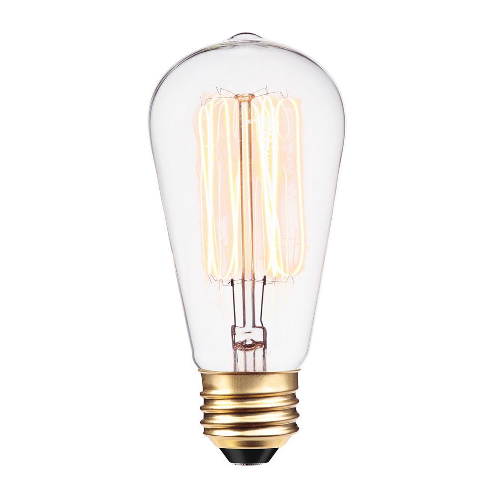 60-Watt Incandescent S60 Vintage Squirrel Cage Medium Base Light Bulb