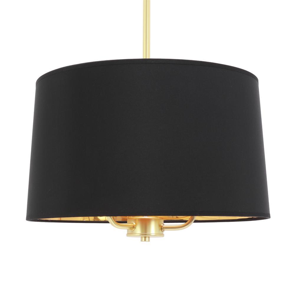 Elise Convertible 3-Light Gold Pendant