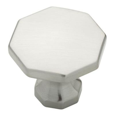 Southampton 1-1/8 in. (28mm) Satin Nickel Octagon Cabinet Knob