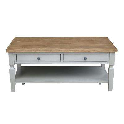 Vista 2-Tone Hickory and Gray Coffee Table