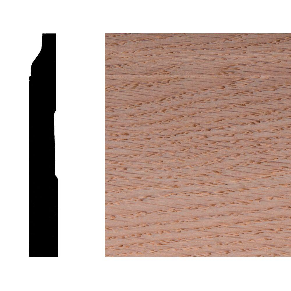 LWM623 3/8 in. x 3-1/4 in. Oak Wood Base Moulding