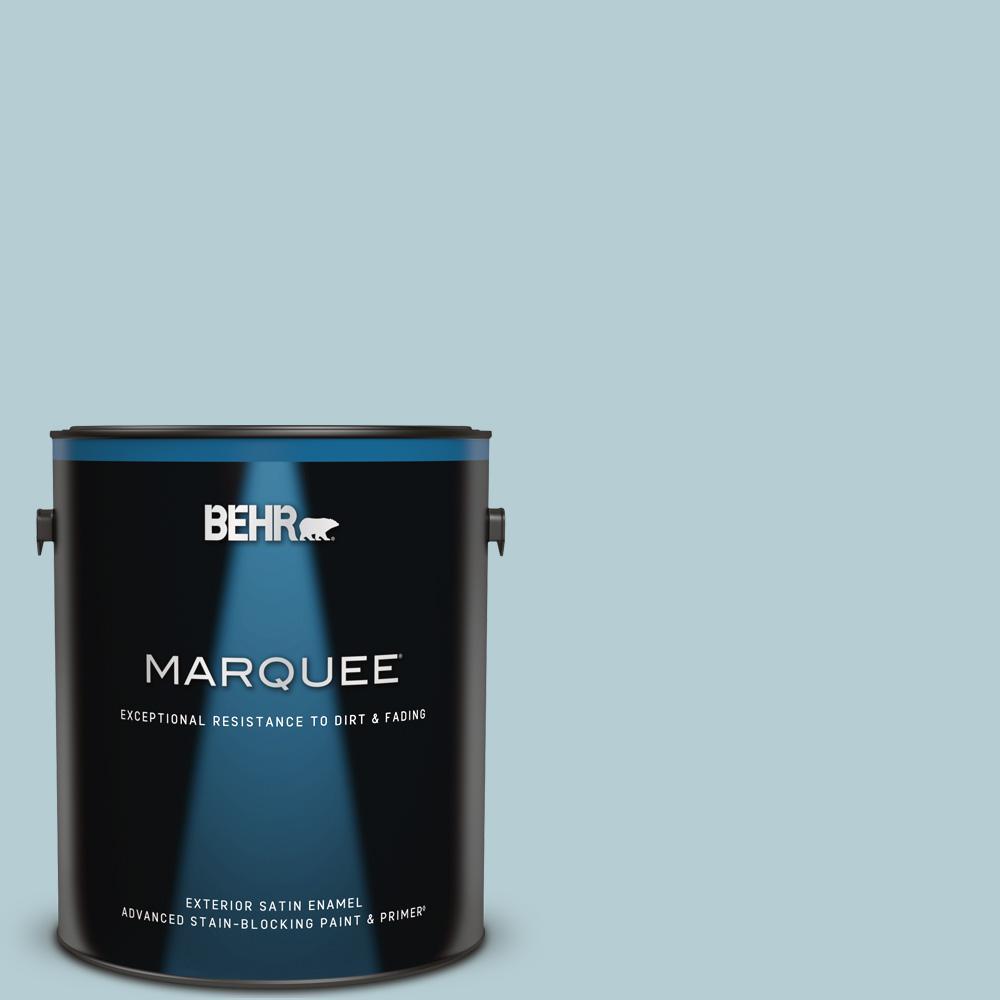 Behr Marquee 1 Gal 530e 3 Sonata Satin Enamel Exterior Paint Primer 945001 The Home Depot