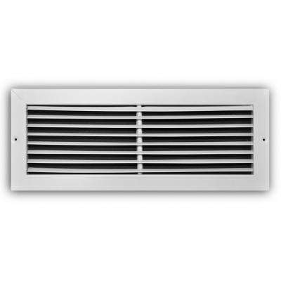 20 in. x 8 in. White Fixed Bar Return Air Grille