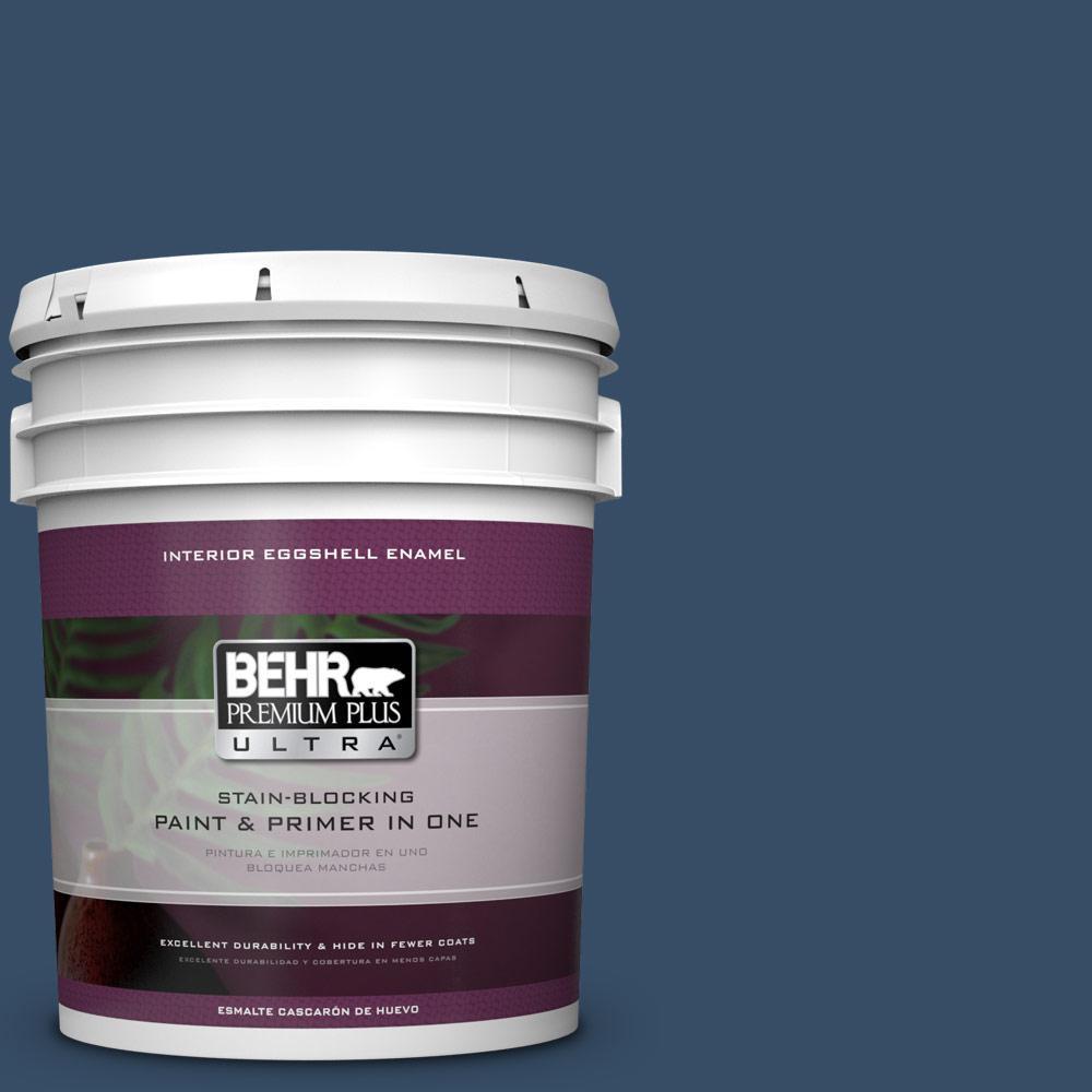 5 gal. #HDC-FL14-12 Rain Boots Eggshell Enamel Interior Paint
