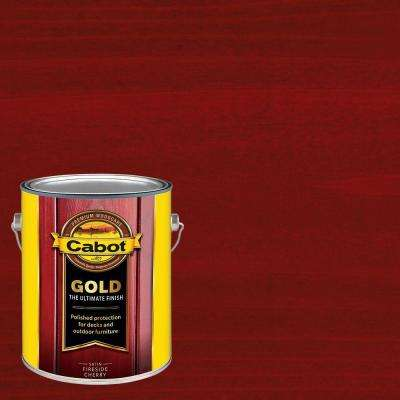 1 gal. Fireside Cherry Gold Oil Exterior Deck Varnish