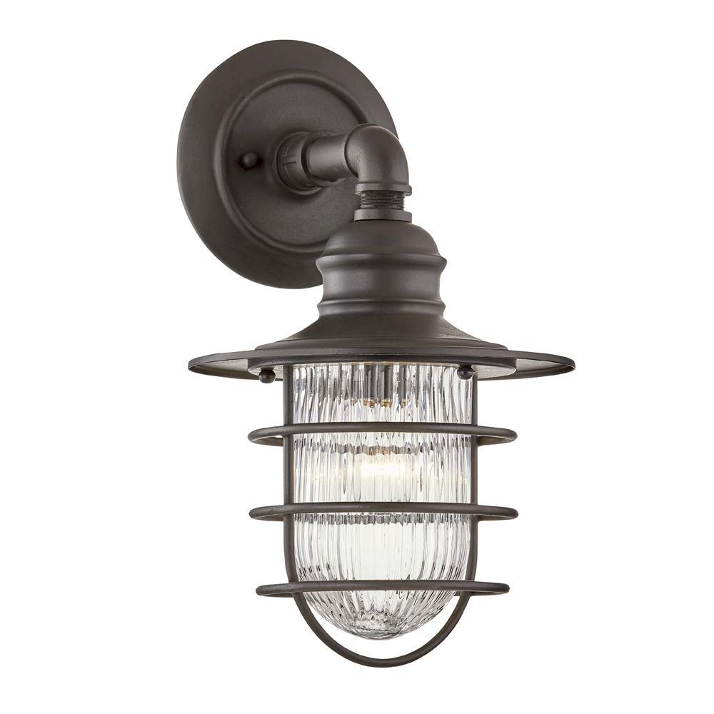 Freeport 1-Light Antique Iron Outdoor Wall Mount Lantern