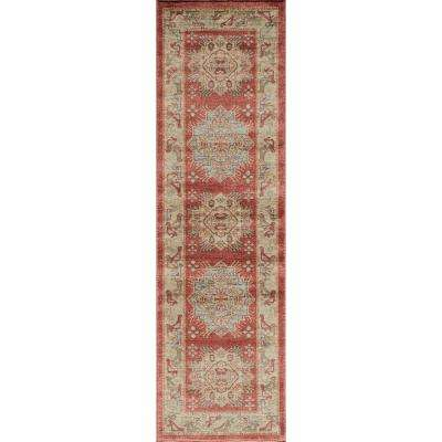 Ghazni Red 2 ft. x 8 ft. Indoor Runner Rug