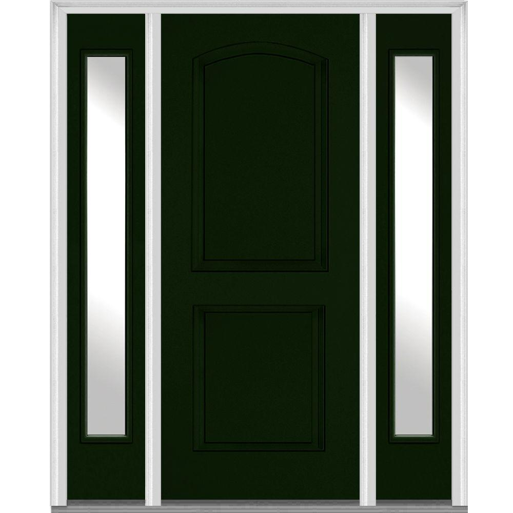 MMI Door 64 In. X 80 In. Right Hand Inswing 2 Panel Arch