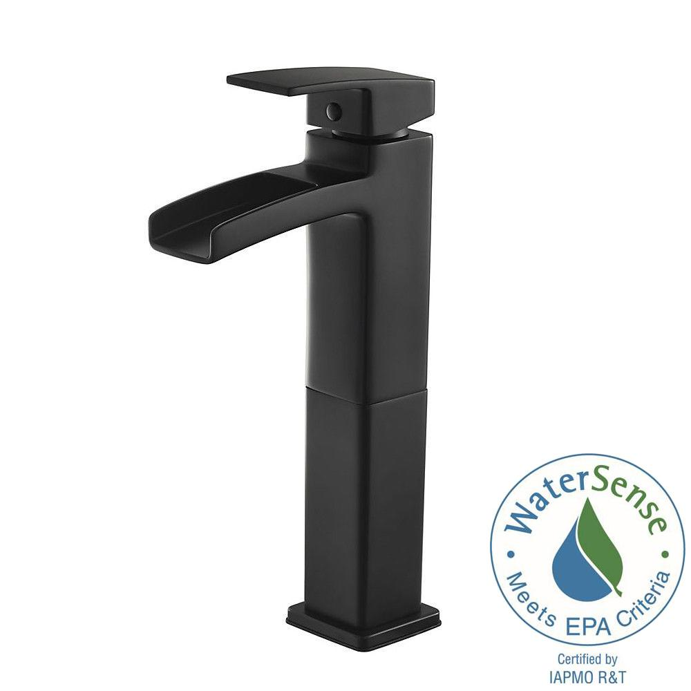 Kenzo Single Hole Single-Handle Vessel Bathroom Faucet in Matte Black