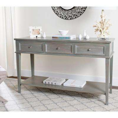 Etonnant Manelin Ash Gray Storage Console Table