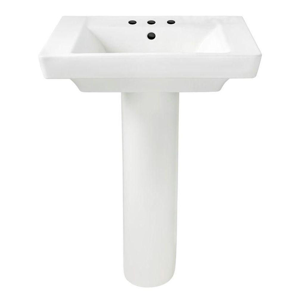 Boulevard Pedestal Combo Bathroom Sink in White
