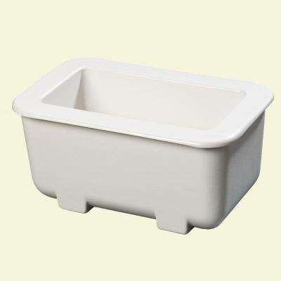 6 in. Deep Third Sized Cold Pan in White