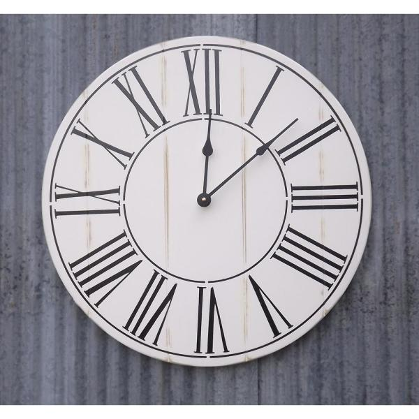 Brandtworks 18 In Oversized Alexander Farmhouse Wall Clock Afh 018 The Home Depot