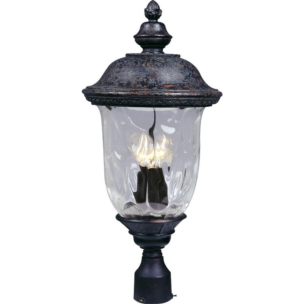 Maxim Lighting Carriage House DC 3-Light Oil-Rubbed Bronze Outdoor Pole/Post Mount