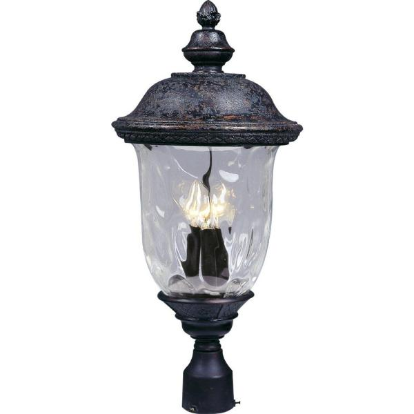 Carriage House DC 3-Light Oil-Rubbed Bronze Outdoor Pole/Post Mount
