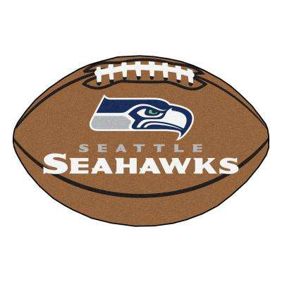 NFL Seattle Seahawks Brown 1 ft. 10 in. x 2 ft. 11 in. Specialty Accent Rug