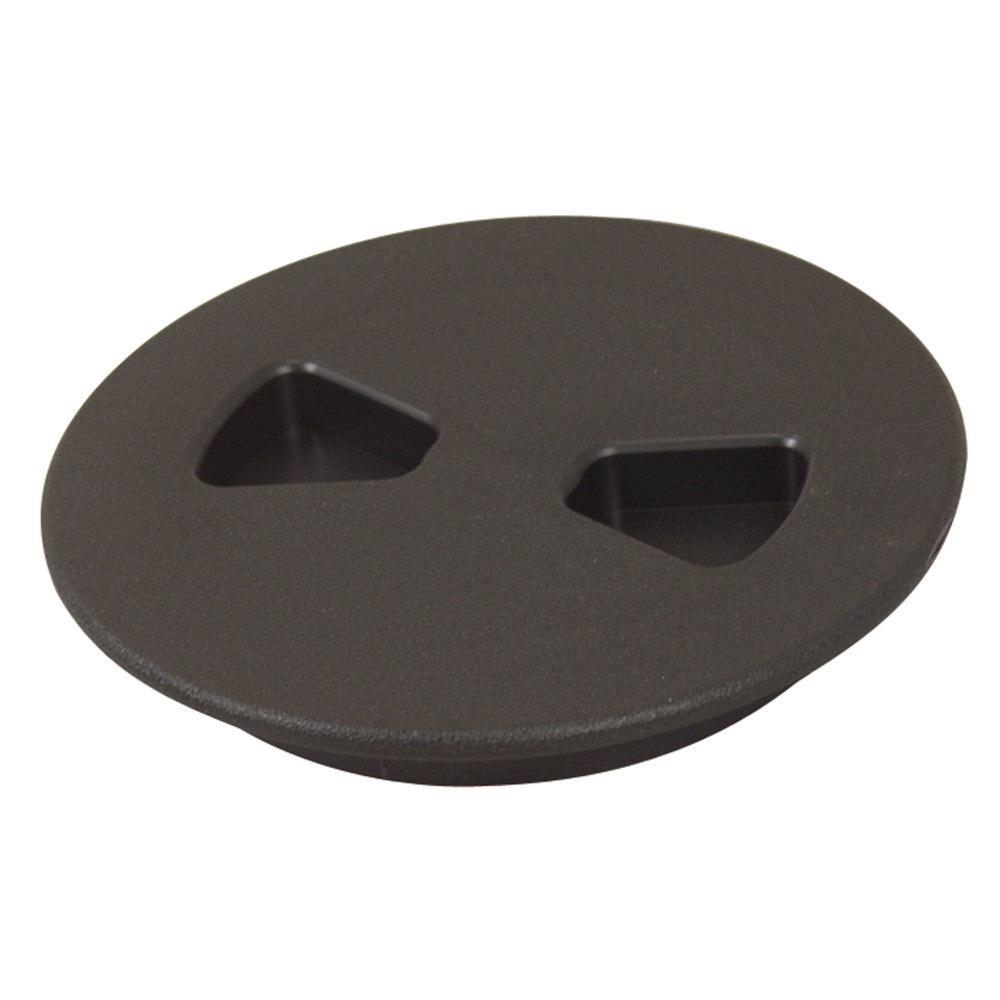 T-H Marine Sure-Seal Screw Out Deck Plate in Black