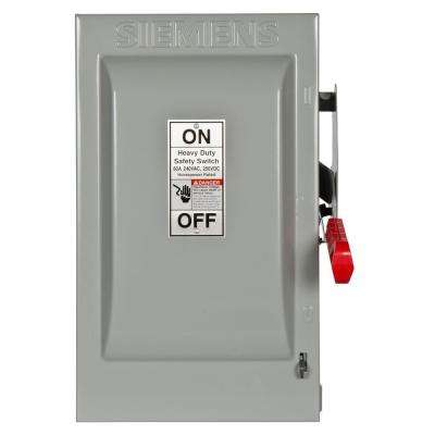 Heavy Duty 60 Amp 240-Volt 3-Pole Indoor Fusible Safety Switch with Neutral