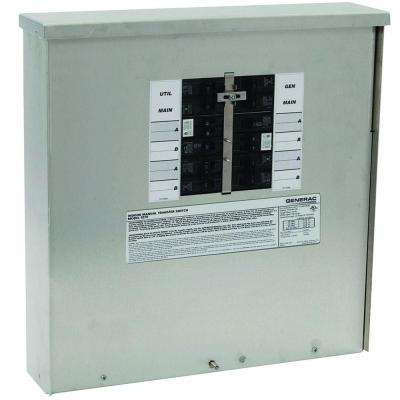 30-Amp Manual Transfer Switch 10-16 Circuits 7.5 kW Outdoor
