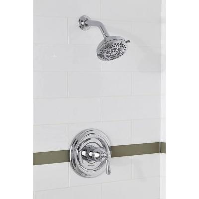 Hydrofocus 6-Spray 4.5 in. Single Wall Mount Fixed Rain Shower Head in Polished Chrome