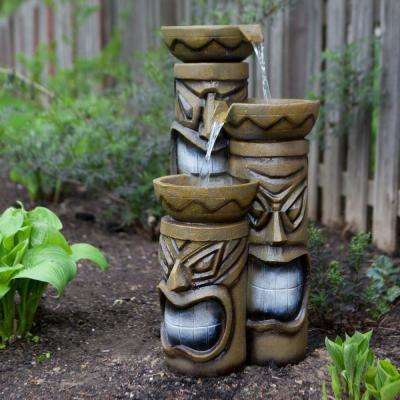 29 in. Tiki Fountain with LED Lights