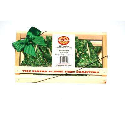 Balsam Scented Fire Starter Gift Crate (10-Pack)