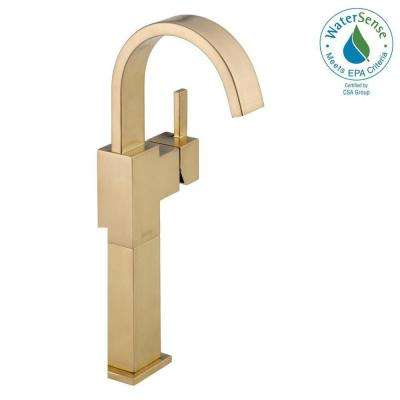 Vero Single Hole Single-Handle Vessel Bathroom Faucet in Champagne Bronze