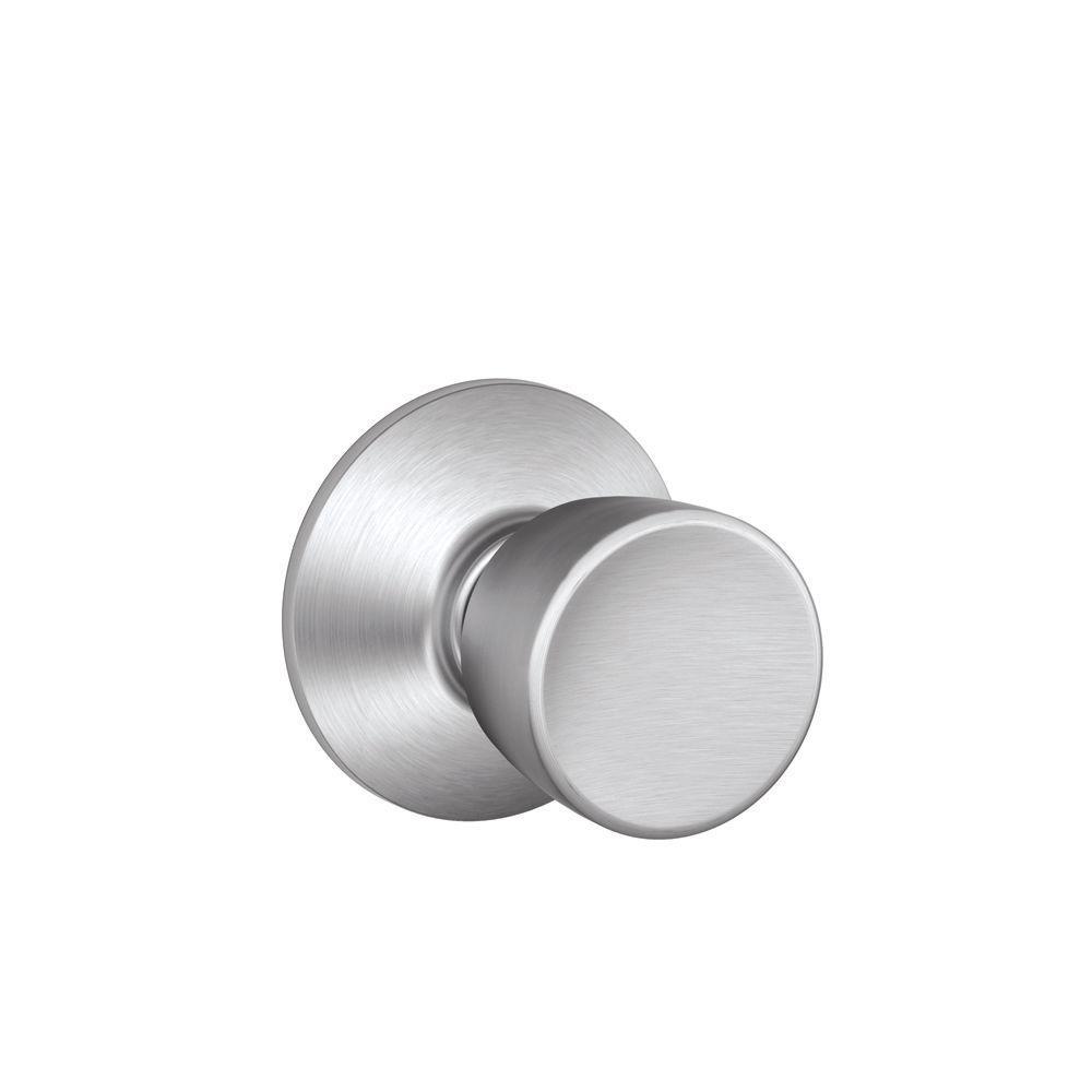 Bell Series Satin Chrome Passage Hall/Closet Door Knob