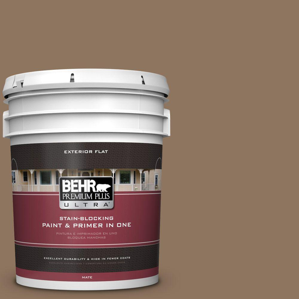 BEHR Premium Plus Ultra 5-gal. #700D-6 Belgian Sweet Flat Exterior Paint