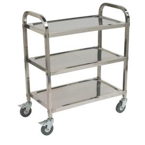 Carlisle 400 knockdown stainless steel utility cart uc4031529 the home depot Home styles natural designer utility cart
