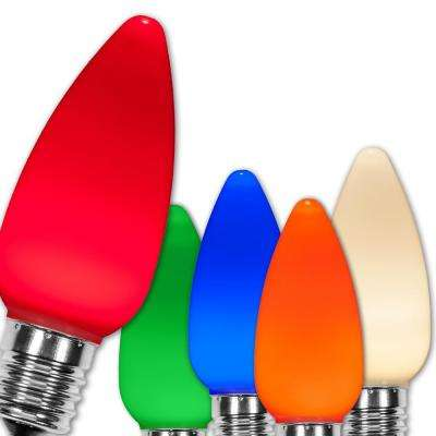 C9 LED Multi-Color Smooth/Opaque Christmas Light Bulbs (25-Pack)