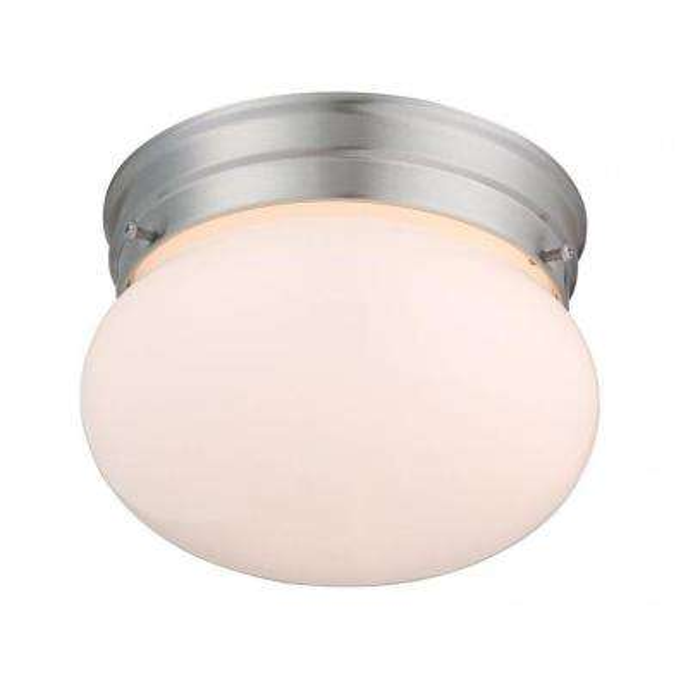 Lisa 1-Light Satin Nickel Flush Mount