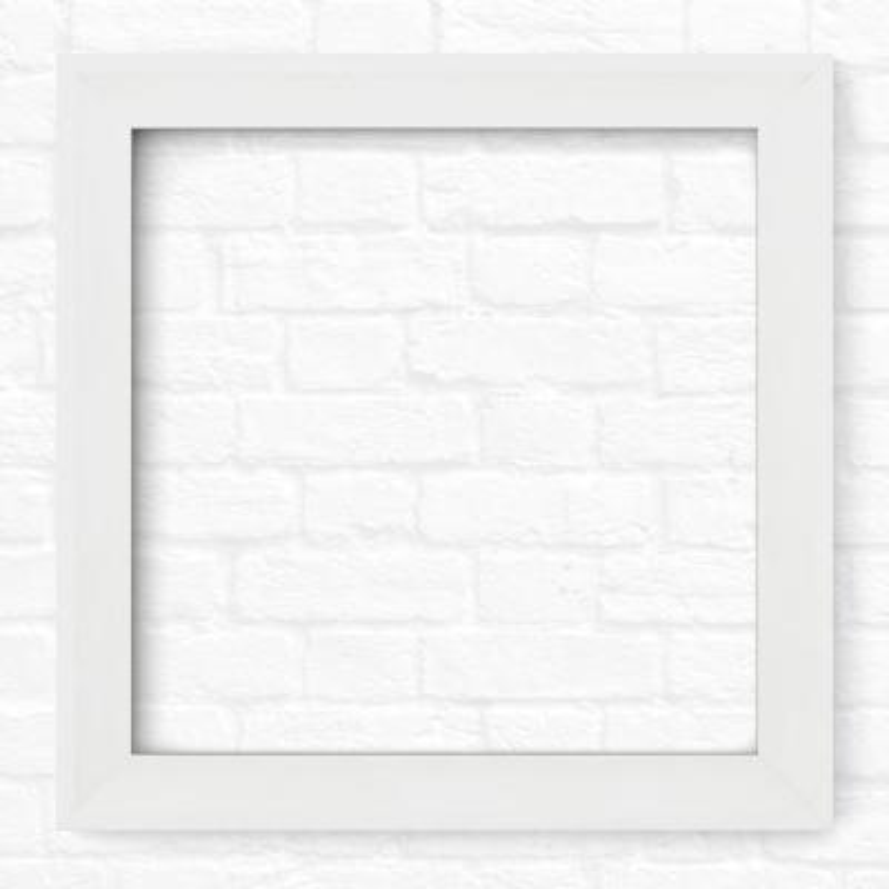 33 in. x 33 in. (L2) Square Mirror Frame in Matte White