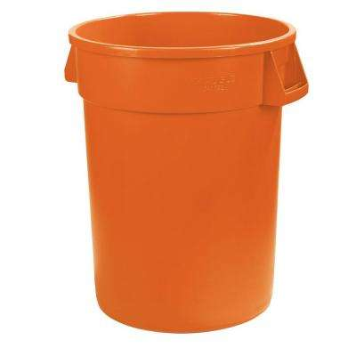 Bronco 10 Gal. Orange Round Trash Can (6-Pack)