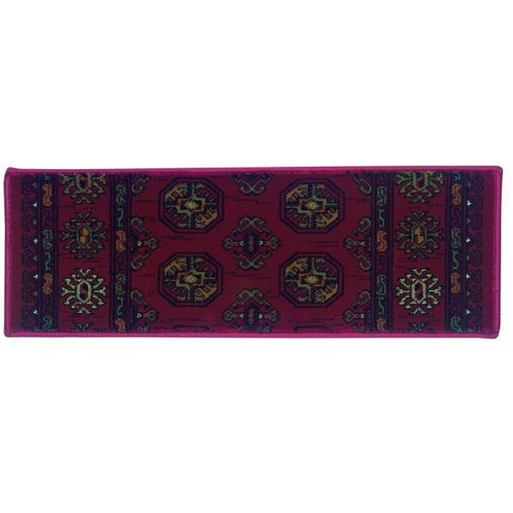Kurdamir Boukara Crimson 9 in. x 33 in. Stair Tread Cover