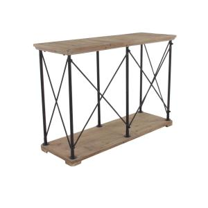 Internet #303592971. +3. Null Brown Console Table With Metallic Black Frames