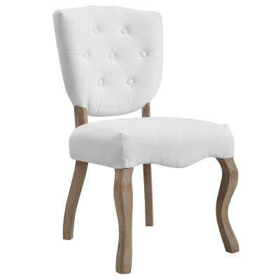 Array White Vintage French Upholstered Dining Side Chair